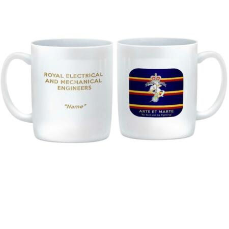 img-Royal Electrical and Mechanical Engineers CUSTOMISED Mug REME Corps Badge on Tie