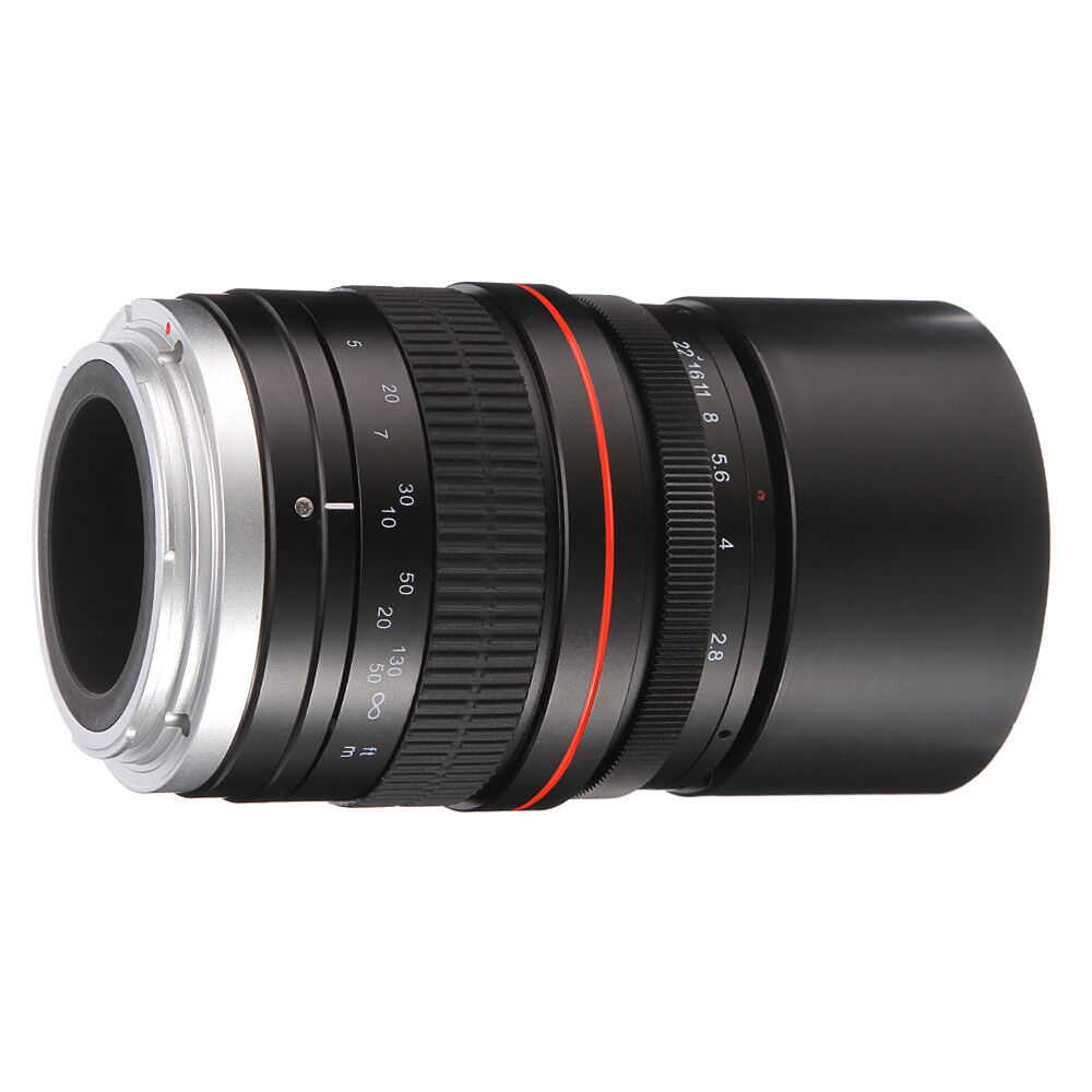 Details about 135mm F2.8 Full Frame Manual Focus Telephoto Lens for Canon  EOS Camera 5D 7D 60D