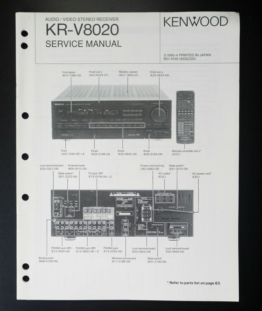 Kenwood Kr Service Manual