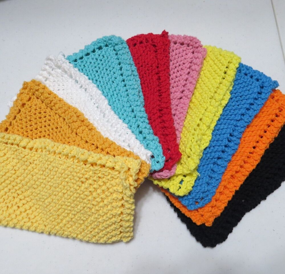 Farmhouse Kitchen Knitted Dishcloth: Grandma's Vintage Style Hand Knitted Dishcloth