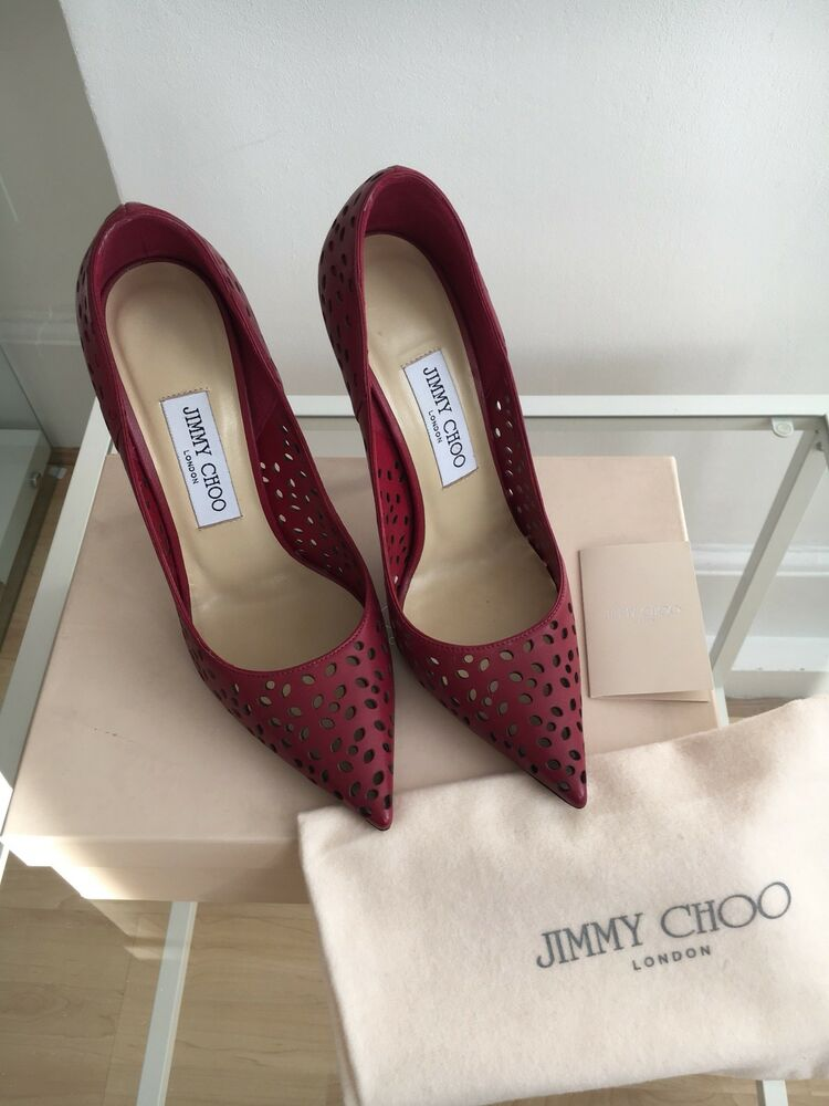 065e7679474 Details about Jimmy Choo Anouk Raspberry Heels Size 4 37 - New With Box