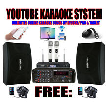 Complete Professional Youtube 2000W Karaoke System W/ HDMI & Bluetooth Function