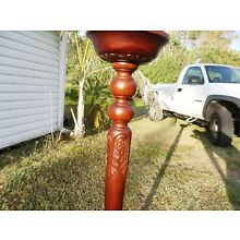 MAHOGANY CARVED WOOD PLANT STAND 48
