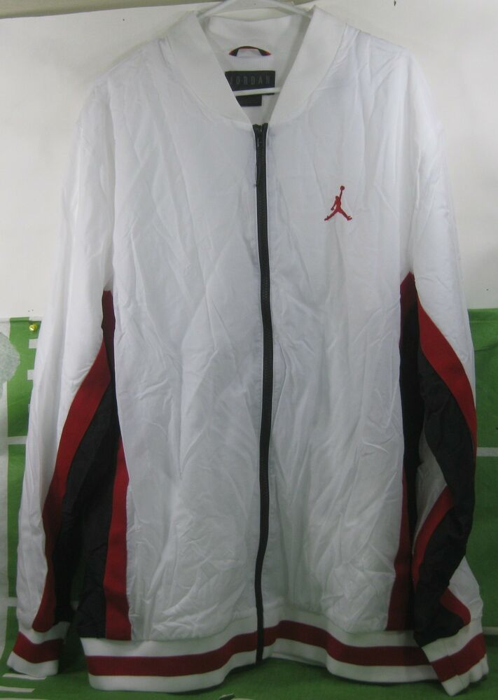 61755ada119 NEW JORDAN RINGS JACKET WHITE/BLACK/GYM RED Size 2XL *** 91205290907 ...