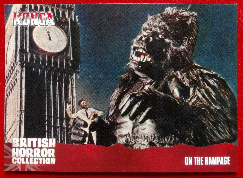 8d22b9afb2f Details about BRITISH HORROR COLLECTION - Konga! - ON THE RAMPAGE - Card  55