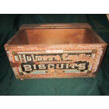 Vintage 'Holmes and Coutts' Biscuits Wood Crate~G