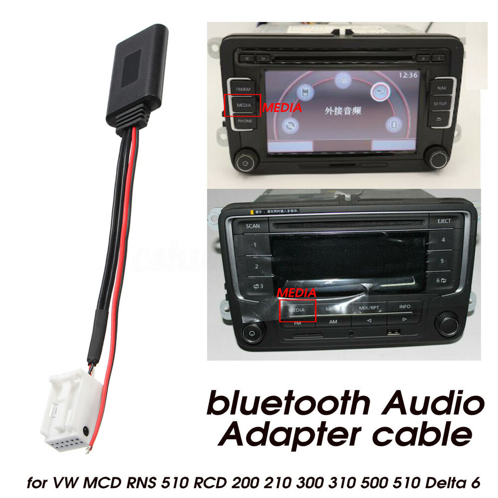 bluetooth audio adapter cable for vw mcd rns 510 rcd 200. Black Bedroom Furniture Sets. Home Design Ideas