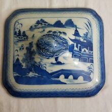 Antique 19th Century Chinese Export CANTON Blue 15.5