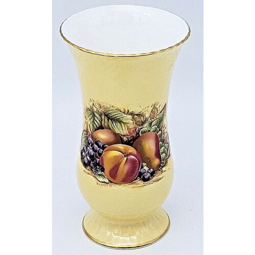 aynsley-orchard-gold-fruit-design-vase-england-excellent-condition