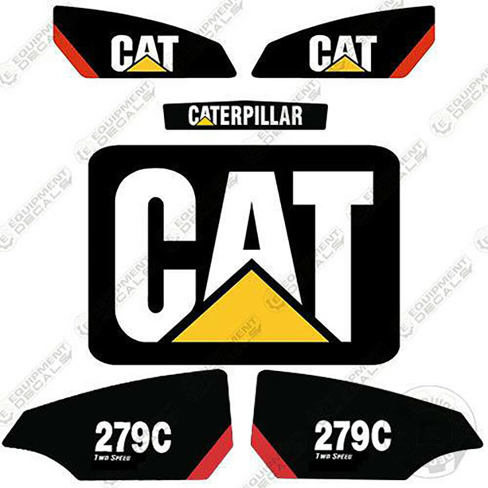 Details about caterpillar 279c 2 speed decal kit equipment decals