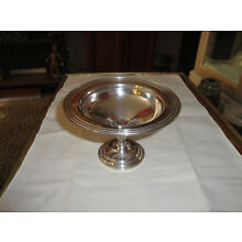 GORMAN STERLING SILVER WEIGHTED COMPOTE, CANDY DISH, BOWL, ENGLISH MARKINGS