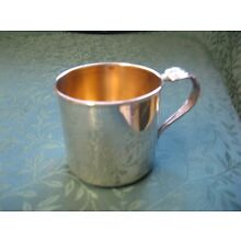Vintage 1847 Rogers Bros Silverplate Baby Cup Gold Wash HERITAGE 1953
