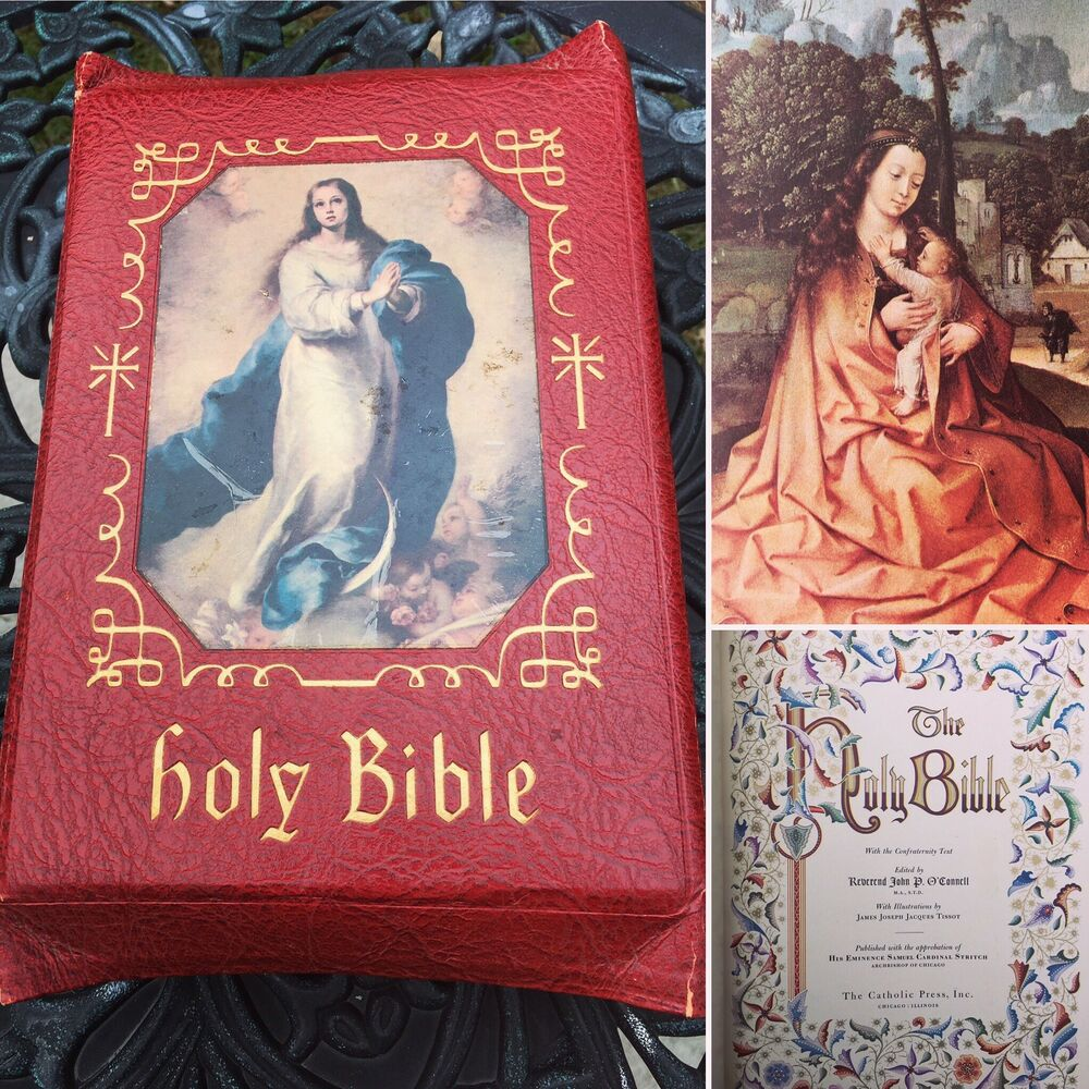 Antique Religious Book Nice Graphics Holy Bible The Holy Angels Edition  Chicago   eBay