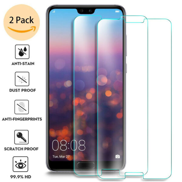 For Huawei P20 Pro Lite Tempered Glass Screen Protector Premium Protection 2Pcs