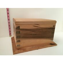 CREMAINS CASKET - SOLID WOOD WITH DOVETAILS