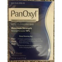 Panoxyl acne cleansing bar Soap 4 oz NEW EXP JL 2017 selling as collectable