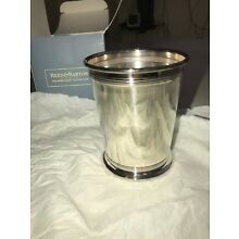 Reed & Barton Sheffield Collection 10oz Silver Plate Mint Julep Cup Double Band
