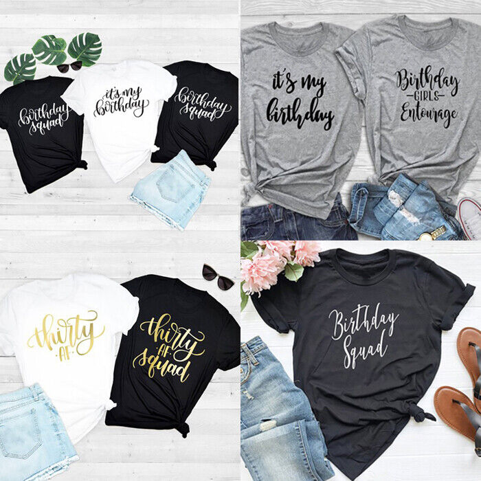 Details About Its My Birthday T Shirt Women Tees Ladies Men Gift Tops Tumblr