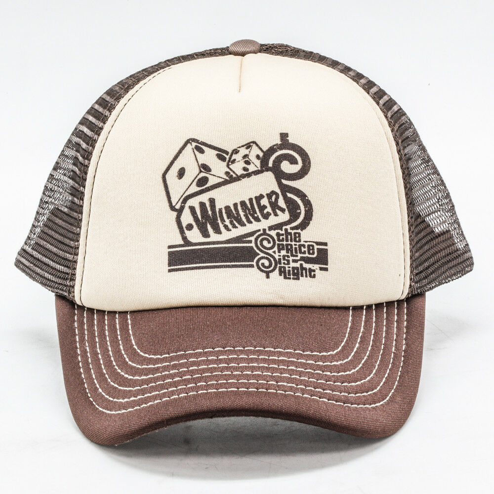 Details about NEW The Price Is Right Brown Two Dice Winner Trucker Mesh Cap  Dad Baseball Hat b49b880fe55