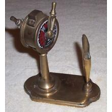 Chadburns Liverpool London Brass Ship Order Telegraph Desk Pen Holder