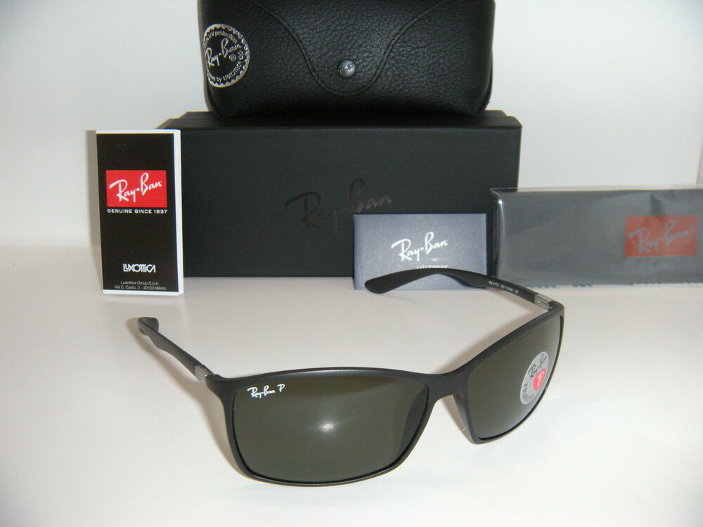 c990928888 Details about RAY BAN 4179 TECH LITEFORCE RB 4179 601S9A 62mm MATTE  BLACK GREEN POLARIZED NEW