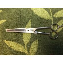 VINTAGE PROFESSIONAL BARBER THINNING SHEAR PEARL DUCK DUBL DUCK SOLINGEN GERMANY