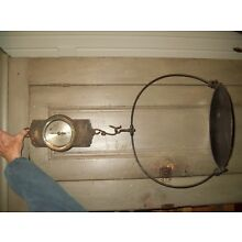Antique Hanging Scale CHATILLON 10 lb Vintage Primitive Country Store, Tray