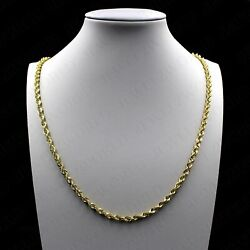 Kyпить Real 10K Solid Yellow Gold 2.5mm Diamond Cut Rope Chain Pendant Necklace 16
