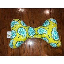Baby elephant ears head support pillow for car seat stroller swing green paisley