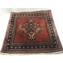 Antique Persian Handmade Wool Rug Salesmen Sampler, Prayer Nice