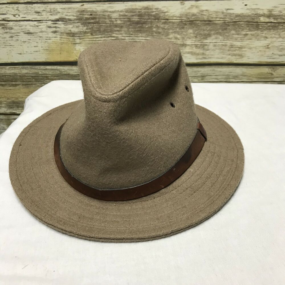 1e2fe2bbff6791 Details about Vintage Kangol Design Men's Small Brown Fedora Hat Sharp!