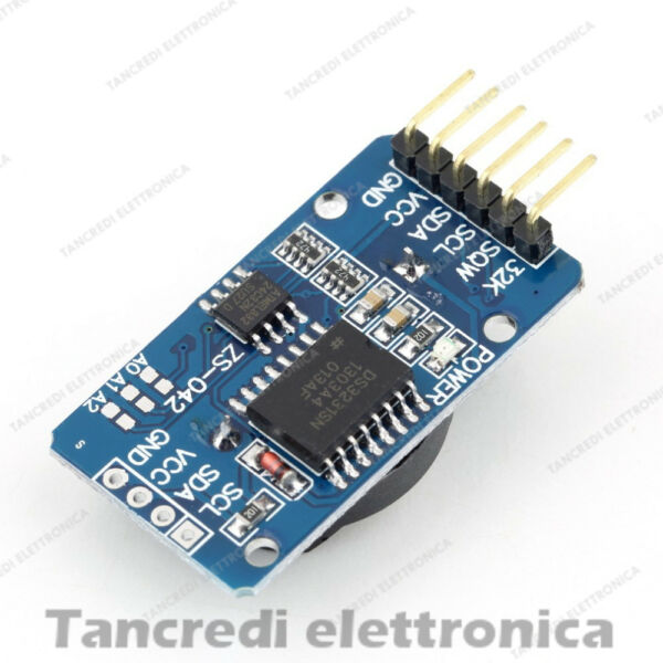 Shield DS 3231 modulo RTC real time clock memoria I2C (Arduino-Compatibile)