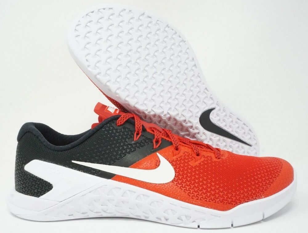 40ba24238a6e8 Details about Nike Metcon 4 Mens Training Shoe Crossfit University Red Black  White Multi Size