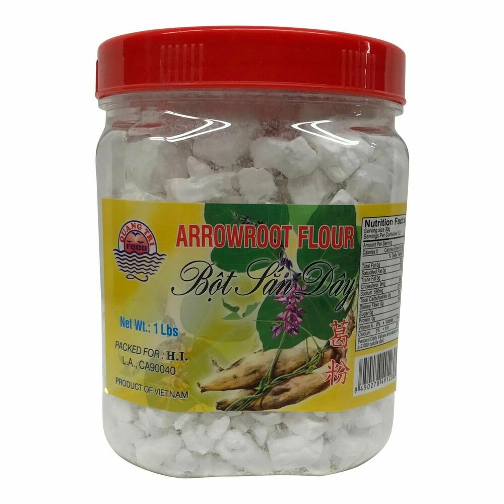 Details about Arrowroot Starch, Bot San Day. Gluten Free Thickener 14 ounce Jar.