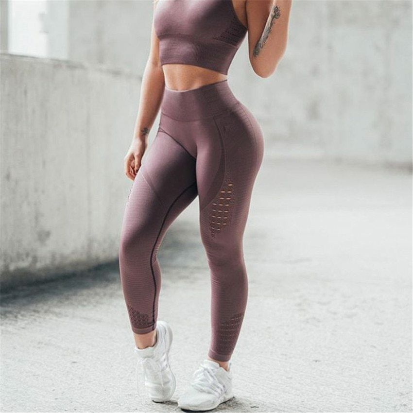 8929191c83e55 Details about Women Seamless Leggings High Waist Yoga Pants Push Up Workout  Legging for Women