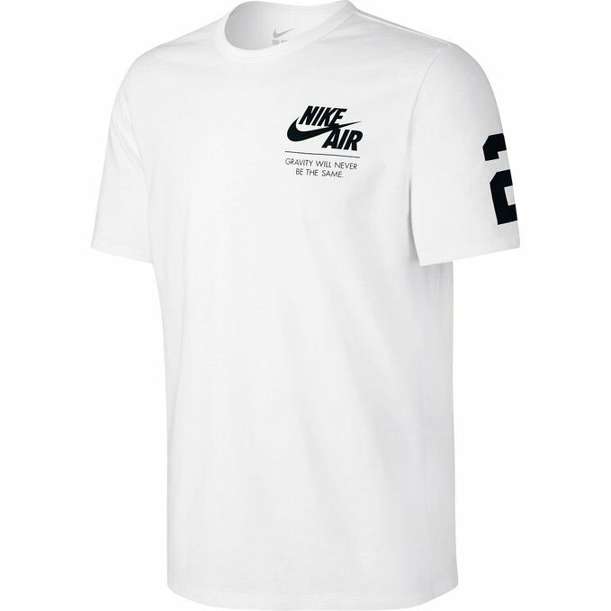 53fa964a4ece Details about Nike Air 82 Graphic Shirt Athletic Printed White Black 689198- 100 SIZE M