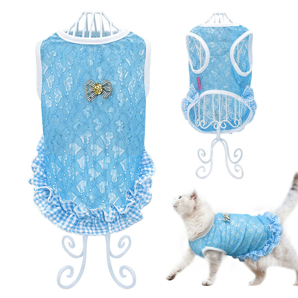 673e22924328 Details about Lace Dog T-shirt Summer Dog Clothes Puppy Kitten Coat Vest  for Small Medium Dogs