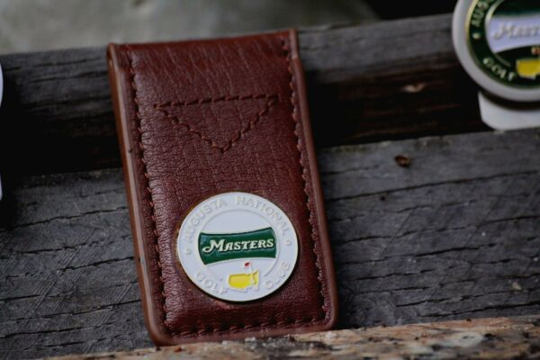 The Masters 2018 Leather White Money Clip - Free Shipping