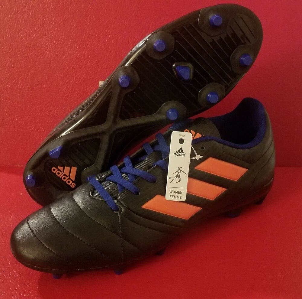 9ef0cf659a7196 Details about New Adidas Ace 17.4 FG Womens Shoe Size 8 Soccer Cleats  S77070 Black   Orange