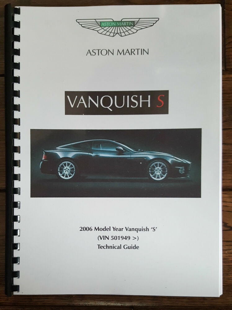 details about aston martin v12 vanquish s (04 - 07) technical update / wiring  diagram printed