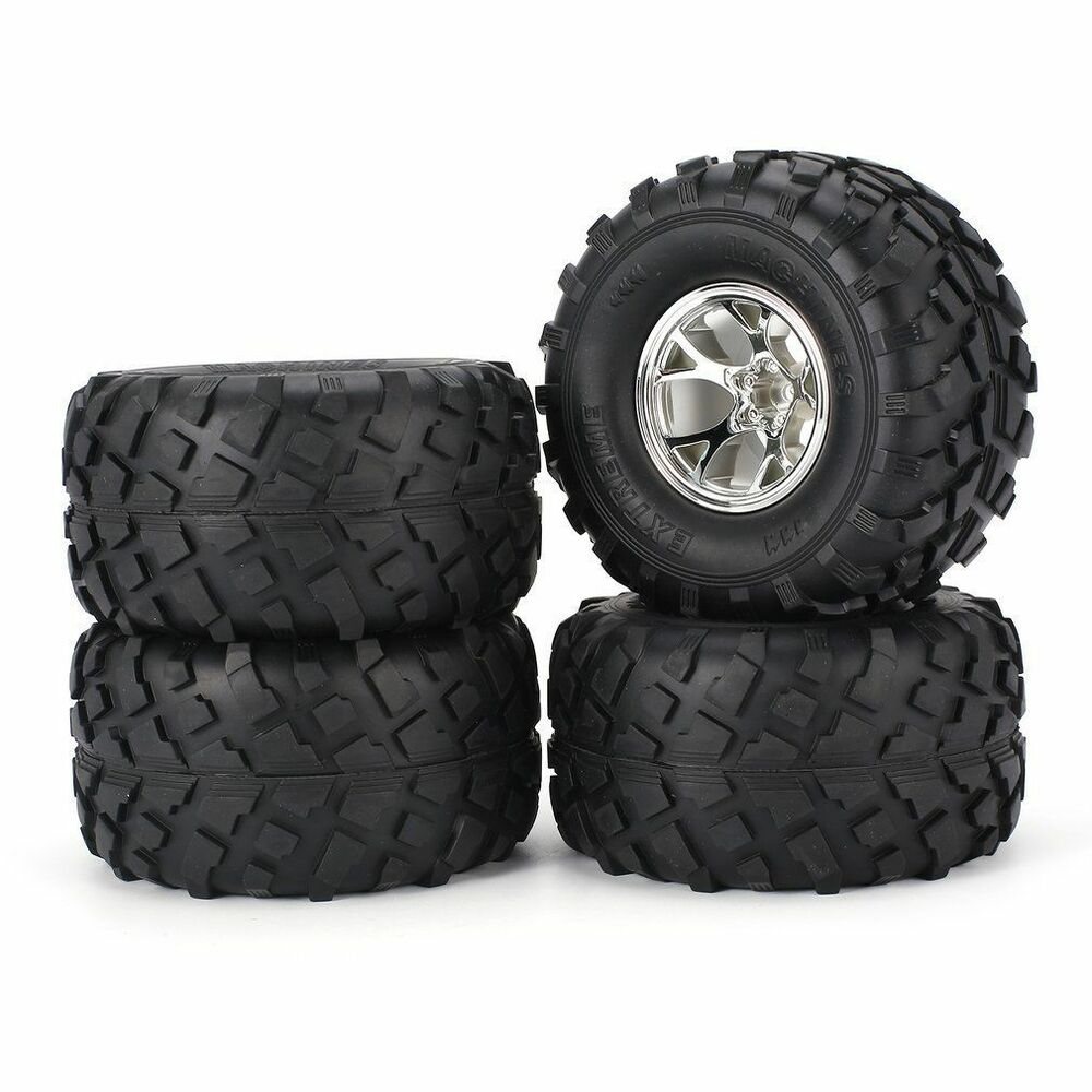 Truck Wheels And Tires >> Rc Truck Wheels Tires Set For Redcat Blackout Volcano Tr Mt10e