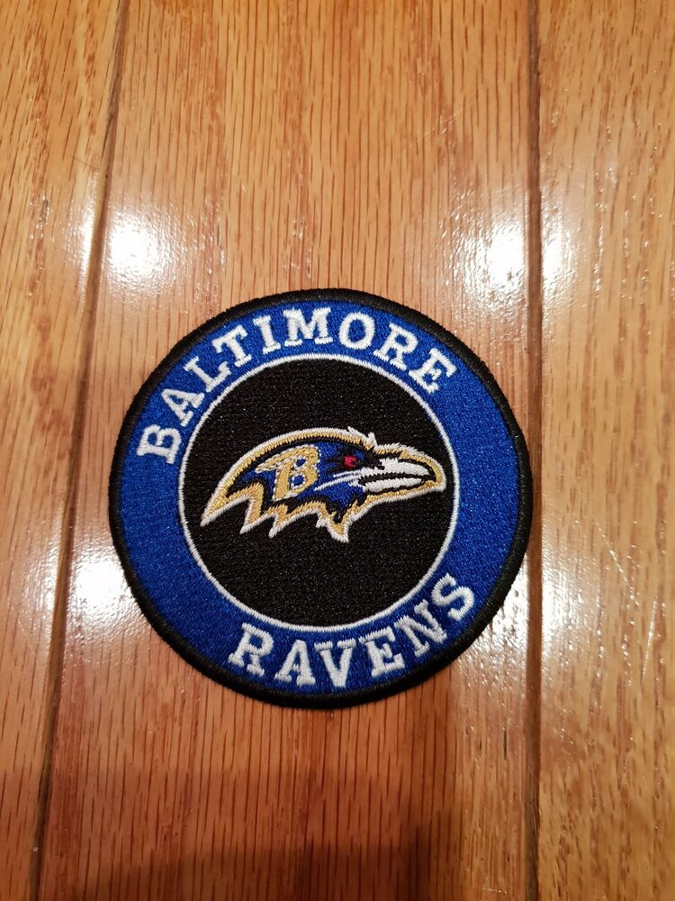 55d8361b2aedb8 Details about Baltimore ravens Vintage Iron On Embroidered Patches patch  lot 3