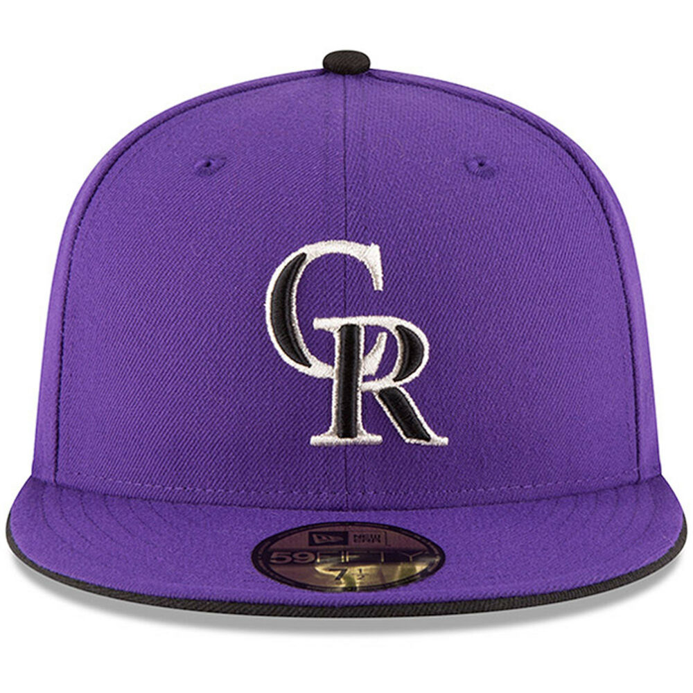4561c7fc6b4 Details about New Era MLB Colorado Rockies Purple Team Authentic Collection  59FIFTY Cap NewEra