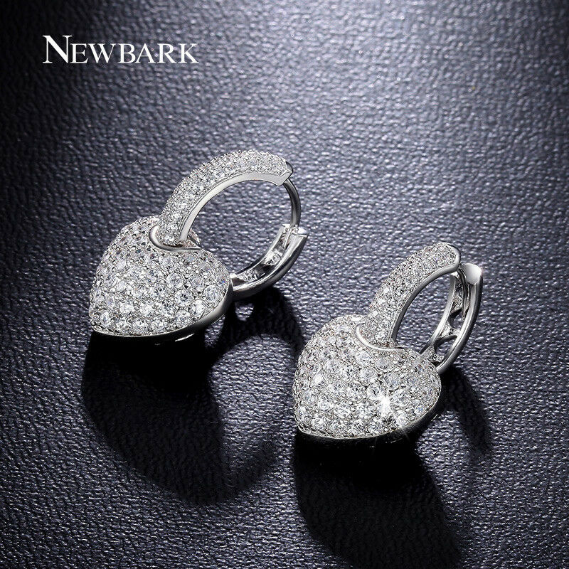 Details about New Fashion Heart Love Silver Crystal Rhinestone Lady Women  Stud Earrings Gifts 56cbbd3748ec
