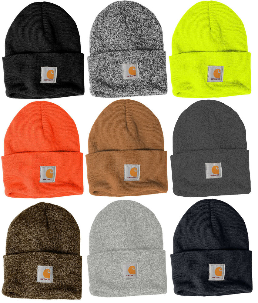 9bf4978c60519 Details about Carhartt Acrylic Watch Beanie Knit Men s Stocking Cap Warm  Winter Hat Authentic