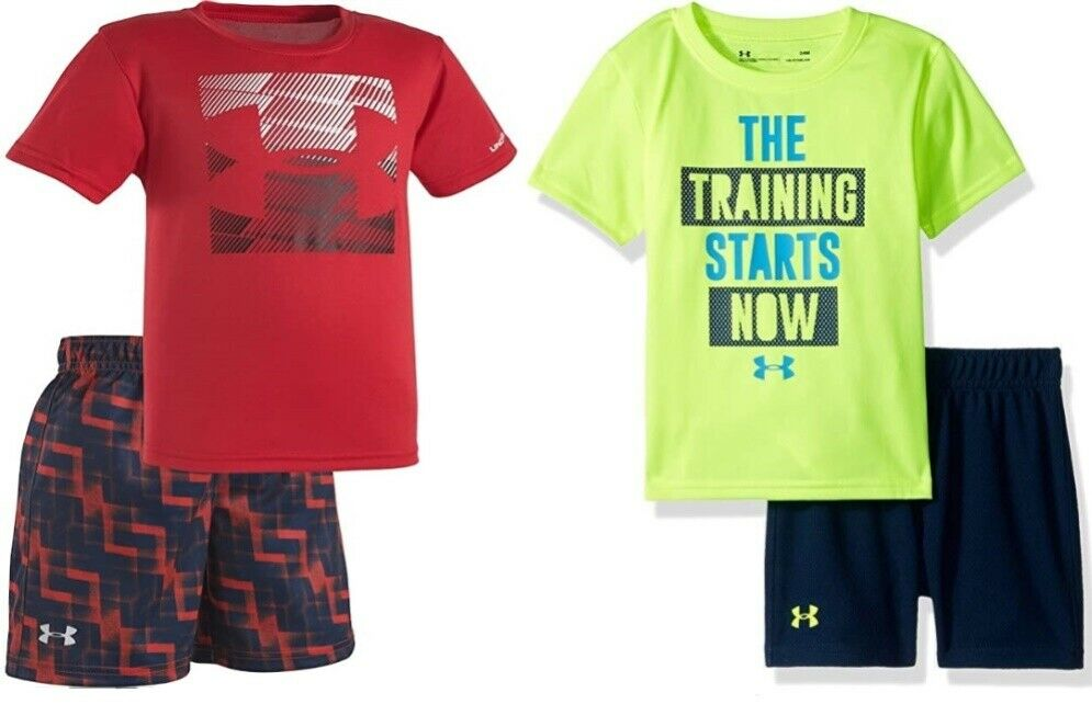 Details About Under Armour Infant Boys 2 Pc Shirt Shorts Set Nwt Yellow 18m Or 24 Months