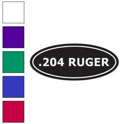 Ammo .204 Ruger Decal Sticker Choose Color + Size #30