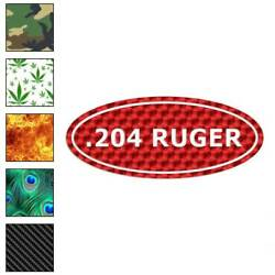 Ammo .204 Ruger Decal Sticker Choose Pattern + Size #30
