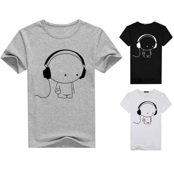 Men Round Neck Tops Pullover Slim Fit Short Sleeve Casual T-Shirt Basic Tee