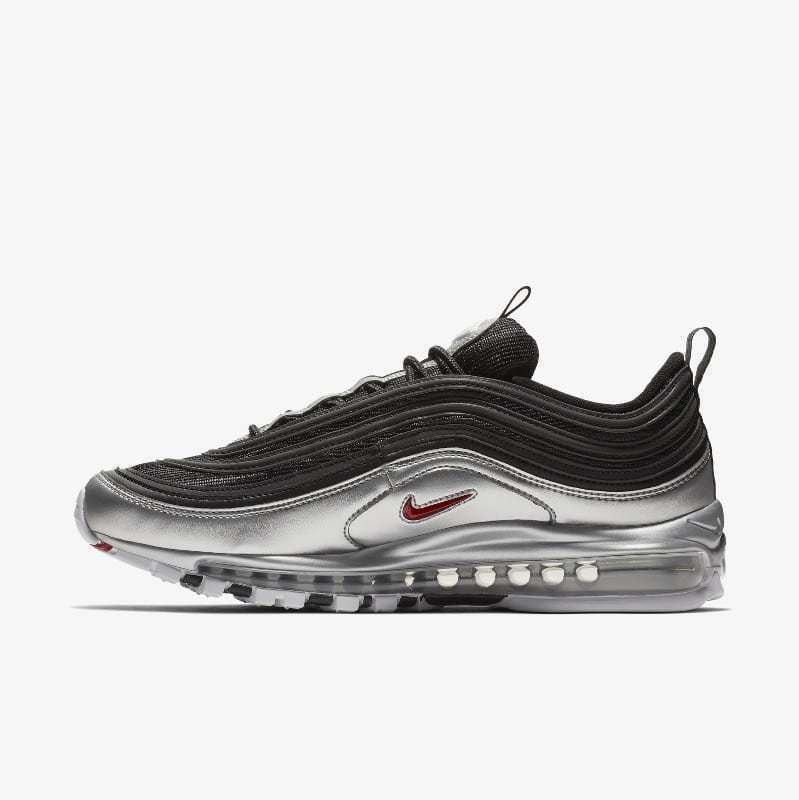 d012cc1e455 Details about Nike Air Max 97 QS size 13. Black Silver Bullet Red. AT5458- 001. 98 95 90 1